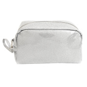 Mootime Zippered Cosmetic Bag Carry Case Travel Makeup Portable Organiser Toiletry Bag Grey