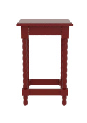 Urbanest Christopher Accent End Table, 60cm Tall, Red