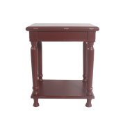 Urbanest Reynolds Accent End Table, 60cm Tall, Red