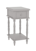 Urbanest Adams Accent End Table with Drawer, 70cm Tall, Grey