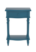Urbanest Jefferson Accent End Table with Drawer, 70cm Tall, Blue