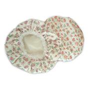 Rural Floral Pattern Shower Cap Printing Double Layer Cute Bath Hat for Women Bathe EVA Lace Waterproof Bathing Cap Bath Mate