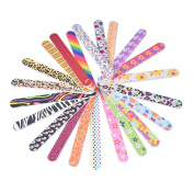 Owill 12PCS Colourful Nail File Grind Sand Double Sided Strip/Random Colour