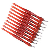10Pcs Nail Cuticle Pusher Stainless Steel Head V-shaped blade Cuticle Trimmer Pusher Remover