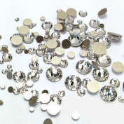 1440 pcs Crystal clear Flat backs Rhinestones Acrylic nail art decoration, a variety of specifications