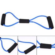 1pcs 8 Shaped Elastic Tension Rope Chest Expander Yoga Pilates Sport Fitness Belt