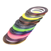30pcs Rolls Striping Tapes Colourful Line Nail Stickers DIY Nail Art Kit Manicaure Beauty decorations