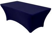 Banquet Tables Pro Navy Blue 1.8m Rectangular Fitted Stretch Spandex Tablecloth