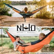 HangTight Hammock Straps With Carabiners - Quick & Easy Setup For All Hammocks. Extra Strong, Lightweight & Tree Friendly. No Stretch Polyester. 6.1m Long & 32 Adjustable Loops Total