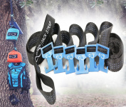 Outdoor Equipment Gear Hanger by Live Infinitely Camping Accessories- 9' Pack Strap For Around Trees or Branches With 6 Aluminium Fully Adjustable T Hooks- Easily Hang 36kg Of Gear From Each Hook