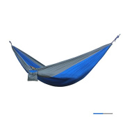 TuffGear Hammock By Single Camping Hammocks - Top Rated Best Quality Gear For The Outdoors Backpacking Survival or Travel - Portable Lightweight Parachute Nylon