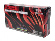 Adenna Night Angel 4 mil Nitrile Powder Free Exam Gloves (Black, Small) Box of 100