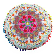 Hot Sale !Indian Large Round Floor Pillow Case ,Beautyvan Comfortable Charming Indian Mandala Floor Pillows Round Bohemian Cushion Cushions Pillows Case