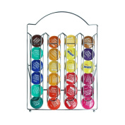 RECAPS Stainless Steel Nespresso Coffee Capsules Holder Carousel Stores 24 Dolce Gusto Pods