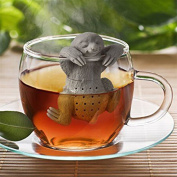 Move on Reusable Cute Loose Tea Leaf Strainer Filter Sloth Tea Infuser - Grey