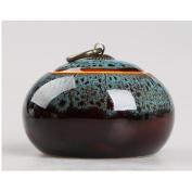 TAMUME Blue Porcelain Tea Container Tea Canister