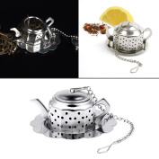 Loose Leaf Tea Infuser - 1 Piece Teapot Shaped Stainless Steel Tea Leaf Strainer Herbal Spice Filter Diffuser Kitchen Gadget Coffee & Tea Accessories - Stainless Steel Tea Infuser - Loose Tea Steeper