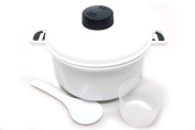 Food-Grade Microwaveable 10-Cup Kitchen Pressure Cooker & Steamer w/ Cup & Paddle, 2.4l Capacity by Pride Of India