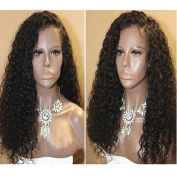 Curly Lace Front Wigs Human Hair with Baby Hair Brazilian Glueless Lace Front Curly Wig for Black Women Natural Colour