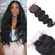 Miss diva Body Wave with Baby Hair Natural Colour Remy 6A Indian Hair 4x 4 Lace Closure Human Hair Lightly Bleached knots