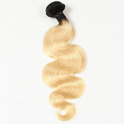 Romantic Angels 30cm ~70cm Remy Brazilian Hair Ombre Body Wave Human Hair Weft 1 Bundle 100g Natural Black Blonde #1B/613
