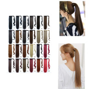 Long Straight Wrap around Ponytail Wig Hair Piece Extensions Hair Extensions Magic Paste Ponytail Synthetic One Piece 60cm