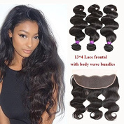 Ossilee Hair Lace Frontal with Bundles Malaysian Body Wave Human Hair with Frontal 8A Malaysian Virgin Hair Body Wave 3 Bundles with Lace Frontal Closure