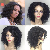 Short Bob Wigs Human Hair with Baby Hair Brazilian Wavy Human Hair Lace Front Wig Short for African Americans Natural Colour