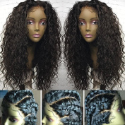 FENJUN HAIR Deep Curly Lace Front Wig Brazilian Virgin Human Hair Wigs With Baby Hair 150% Density Lace Front Wigs For Black Women