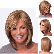 Dignified Atmosphere Fashionable Women Wigs Blonde Short Bob Straight Natural Hair Wigs 33cm £¨Bangs Length