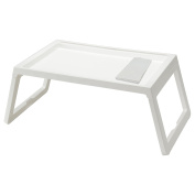 IKEA TV Tray - Lap Tray For The Family Bundle with Restaurant Quality Dinner Napkin - For TV, Movies, Breakfast in Bed, Lunch, Brunch, Dinner - WHITE [Foldable Legs][1 Napkin Included Per Tray]
