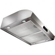 Broan Evolution QP4 Series QP430SS 80cm High Performance Under-Cabinet Range Hood 4 Halogen with Theatre-Style Transitions Easy-to-clean Advanced Heat Sentry
