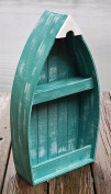 """Curio Cabinets - """"Silver Lake"""" Wooden Rowboat Display Cabinet - Lake House Decor"""