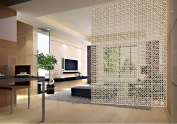 E-life Technology 10pcs Acanthe Wood-plastic Hanging Screen Partition Room Home Hotel Safety Divider
