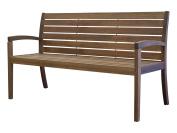 Timbo Vila Rica Hardwood Outdoor Patio 3 Seat Bench, Bench, Brown