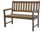 Timbo Mestra Hardwood Outdoor Patio 2 Seat Bench, Bench, Brown