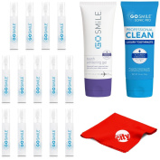 Go Smile GS134 Super White Teeth Whitening System Snap Pack Kit with Gel (100ml) + Luxury Mint Toothpaste