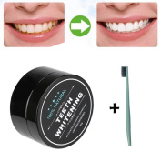 Teeth Whitening Charcoal, Kingfansion Natural Organic Activated Bamboo Toothpaste with Toothbrush