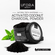 Activated Coconut Charcoal Teeth Whitener, All Natural Teeth Whitening with Bentonite Clay and Peppermint Oil - 60G Easy to Use and Cost Effective By Ufora Beauty