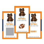 Set of 12 Scratch Off Game Cards for Baby Shower Games with Chicago Illinois Bears Football SC405