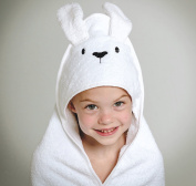 Baby Hooded Towel | 100% Natural Cotton | Luxury Extra Soft Babies and Small Childrens Bath Towel | Cute Bunny Style | by Modern Bubs