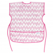 Bumkins Short Sleeved Art Smock, Pink Chevron