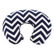 My Blankee Chevron Minky Nursing Pillow Slipcover, Navy, 46cm x 41cm x 14cm