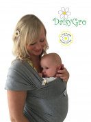 DaisyGro Breathable Soft Cotton Breastfeeding Cover Baby Sling Carrier Baby Wrap, Grey, Plus, 14+