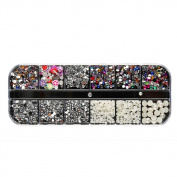 DDLBiz Nail Sequins Rhinestones Hollow Acrylic Nail Art Decoration Design Nail Stickers Set