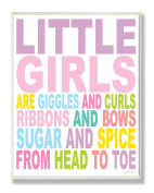 The Kids Room by Stupell Little Girls are Giggles and Curls Typography Rectangle Wall Plaque