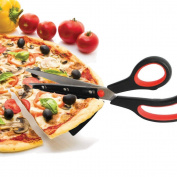Pizza Scissors 28cm Stainless Steel Just Slide the Spatula Tip Under the Pie and Cut Away by Home & Style Products