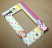 Polka Dot Owl Girls Nursery Bedroom Single Light Switch Cover LS0072