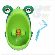 MD Group Children Potty Toilet Green Brush Cleaning Lovely Frog Training Kids Urinal Boy Pee Removable Bathroom