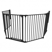 3-in-1 Play Pen Barrier 6 Panel, Black